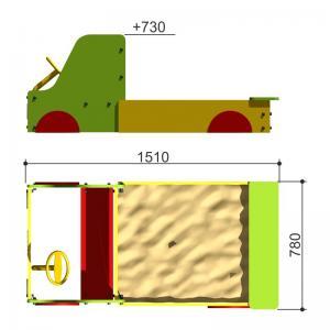 Песочница Машинка Romana 111.03.00