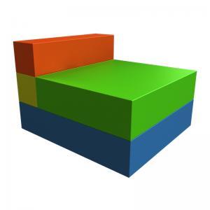 Детская мебель «Кресло раскладное» ДМФ-МК-01.93.04