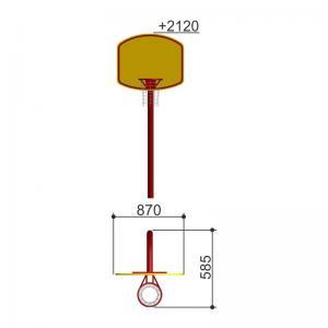 Щит баскетбольный малый Romana 203.12.00