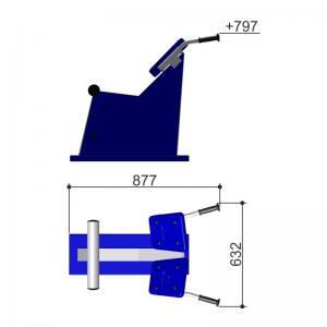 Тренажер для спины наклонный Romana 207.04.01