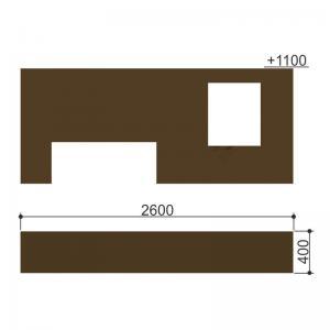 Стена с двумя проломами Romana 206.07.05