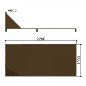 Одиночный окоп для стрельбы и метания гранат Romana 206.07.06