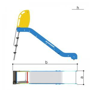 Горка h1250, скат пластик, принт морской Romana 110.23.01-01