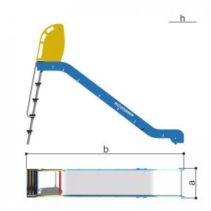 Горка h1550, скат пластик Romana 110.24.01
