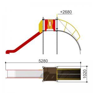 Горка с канатным лазом h1550 Romana 110.08.00
