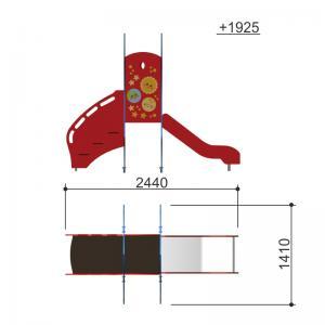 Горка Ракета h650 Romana 111.23.00