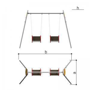 Качели двойные со спинкой (декор) Romana 108.18.02-01