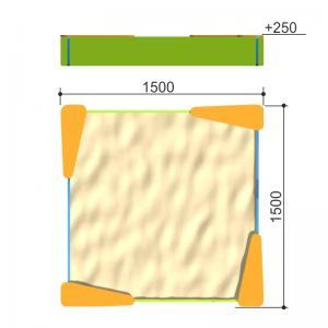 Песочница 1,5X1,5 Romana 109.26.00