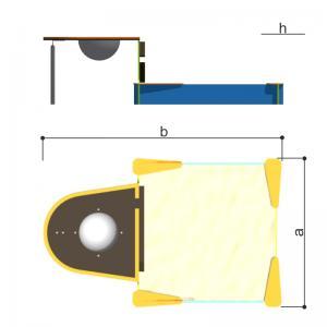 Песочница-столик с емкостью Romana 109.37.00
