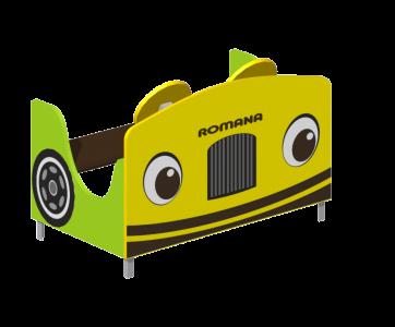 Поезд с рисунком на передней панели (зеленый) Romana 111.27.00