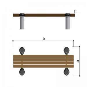 Скамейка горизонтальная (брус) Romana 501.56.01