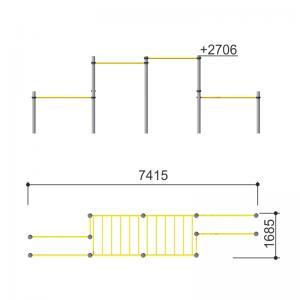 Комплекс с двумя рукоходами Romana 501.31.01
