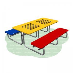 Стол со скамьями шахматный (детский) Romana 302.13.00-01