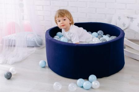 Сухой бассейн с шариками «Airpool» 150 шариков (темно-синий)