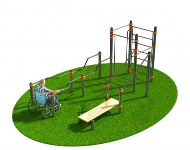 Спортивный комплекс для инвалидов-колясочников СВС-125-М