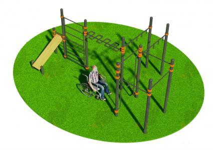 Спортивный комплекс для инвалидов-колясочников СВС-126-М