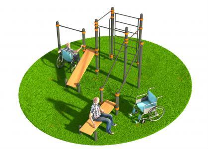 Спортивный комплекс для инвалидов-колясочников СВС-130-М