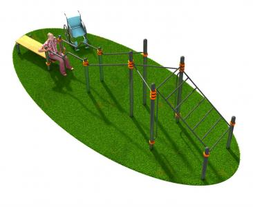 Спортивный комплекс для инвалидов-колясочников СВС-133-М