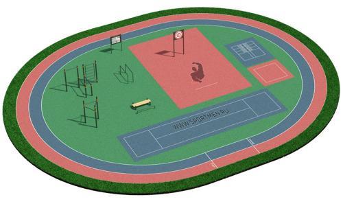 Спортивная площадка для ВФСК и ГТО 1