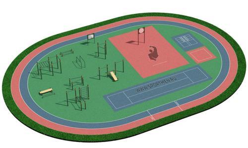 Спортивная площадка для ВФСК и ГТО 2