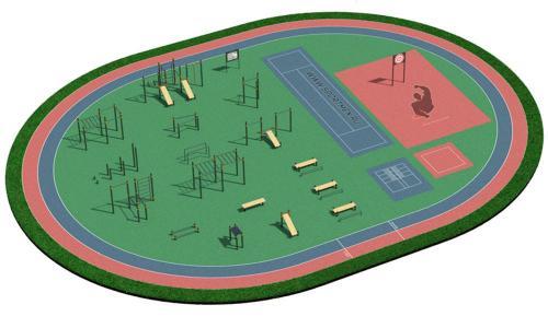 Спортивная площадка для ВФСК и ГТО 4