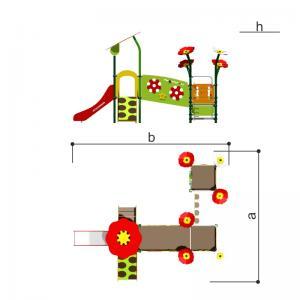 Игровой комплекс Цветочный луг Romana 101.93.00