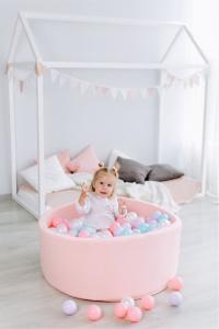 Сухой бассейн с шариками «Airpool» 150 шариков (розовый)