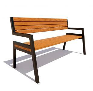 Скамейка с подлокотниками Дубна