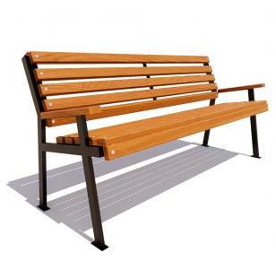 Скамейка с подлокотниками Ретро