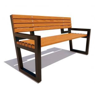 Скамейка с подлокотниками Муром