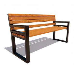 Скамейка с подлокотниками Модерн