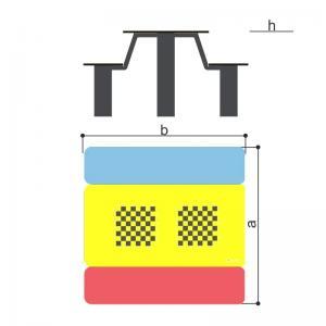Стол со скамьями шахматный (детский) Romana 302.35.00-01
