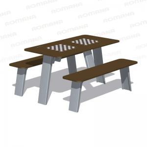 Стол со скамьями шахматный Romana 302.34.00-01