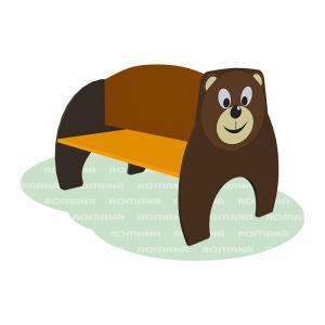 """Скамья двухсторонняя Медведь"""" Romana 302.10.00"""""""